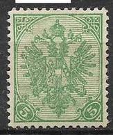 BOSNIA EZERGOVINA  1900-01 STEMMA NUOVO RIQUADRO CIFRE IN BASSO DENT.12 E 1/2 UNIF.10/B MLH VF - Bosnia Erzegovina