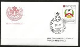 1989 ORDINE DI MALTA SMOM  FDC Guinea Bissau PA  Viaggiata Bellissima - Malte (Ordre De)