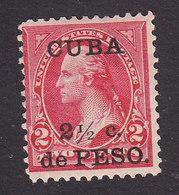 Cuba, Scott #223A, Mint No Gum, Washing Surcharged, Issued 1899 - Cuba