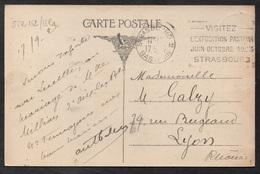 """LOUIS PASTEUR - STRASBOURG / 1923 OB. UNIVERSAL FRANCISEE """"EXPOSITION PASTEUR"""" SUR CARTE (ref LE2667) - Louis Pasteur"""