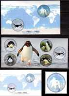 2014 Pole To Pole - Joint Issue Of Greenland And Ross Depend. - Both Countries Full  3 MS + 1 V  MNH** Penguins, Bear - Gemeinschaftsausgaben