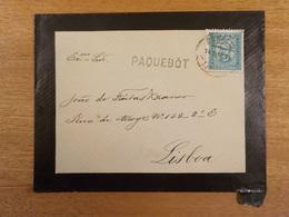 Cx6) Sobrescrito Circulado Enviado Em Paquete PAQUEBOT D.Carlos 25 Reis Funchal To João Freitas Branco - Covers & Documents
