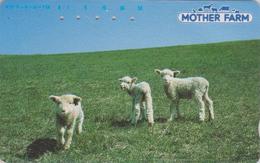 Télécarte Japon / 110-95742 - ANIMAL - MOUTON ** MOTHER FARM ** - SHEEP Japan Phonecard - SCHAF TK - SCHAAP -  83 - Telefoonkaarten