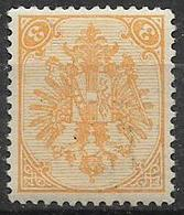 BOSNIA EZERGOVINA  1900-01 STEMMA NUOVO RIQUADRO CIFRE IN BASSO DENT.12 E 1/2 UNIF.12/B MLH VF - Bosnia Erzegovina