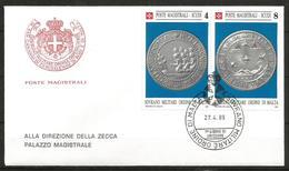 1989 ORDINE DI MALTA SMOM Monete Money  FDC  Viaggiata Bellissima - Malte (Ordre De)