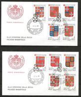 1989 ORDINE DI MALTA SMOM Stemmi Crests  FDC  Viaggiata Bellissima - Malte (Ordre De)
