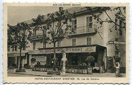AIX Les BAINS  Hôtel Restaurant Exertier Pollingue Propriétaire ( Pompe Essence Palace Garage ) Dos L'Addition 2 Repas - Aix Les Bains
