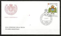 1991 ORDINE DI MALTA SMOM  S. Marino  FDC  Viaggiata Bellissima - Malte (Ordre De)