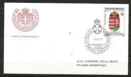 1990 ORDINE DI MALTA SMOM  Ungheria PA  FDC  Viaggiata Bellissima - Malte (Ordre De)