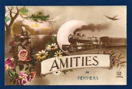 Verviers. Amitiés De Verviers. Train Et Fleurs. 1920 - Verviers