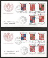 1991 ORDINE DI MALTA SMOM Stemmi Crests   FDC  Viaggiata Bellissima - Malte (Ordre De)