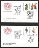 1992 ORDINE DI MALTA SMOM  Uniformi Uniforms   FDC  Viaggiata Bellissima - Malte (Ordre De)