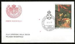 1992 ORDINE DI MALTA SMOM    FDC  Viaggiata Bellissima - Malte (Ordre De)