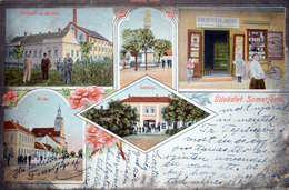 Somorja: Koszárny, Gőzmalom, Goldstein Printing House, Barrack, Bath  Art Nouveau Litho   1907 - Slovakia