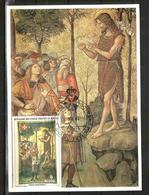 1984 ORDINE DI MALTA SMOM  Pinturicchio  Cartolina Maximum Bellissima - Malte (Ordre De)