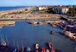 Riccione - Porto Canale E Veduta Della Grande Spiaggia - Formato Grande Viaggiata – E 9 - Rimini
