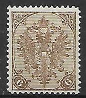 BOSNIA EZERGOVINA  1900-01 STEMMA NUOVO RIQUADRO CIFRE IN BASSO DENT.12 E 1/2 UNIF.14/B MLH VF - Bosnia Erzegovina