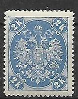 BOSNIA EZERGOVINA  1900-01 STEMMA NUOVO RIQUADRO CIFRE IN BASSO DENT.12 E 1/2 UNIF.22/B MLH VF - Bosnia Erzegovina