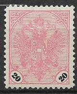 BOSNIA EZERGOVINA  1901-05 STEMMA CON CIFRE IN NERO SU BIANCO UNIF. 24 MLH VF - Bosnia Erzegovina