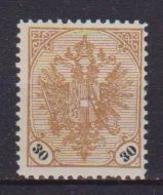 BOSNIA EZERGOVINA  1901-05 STEMMA CON CIFRE IN NERO SU BIANCO UNIF. 25/MLH VF - Bosnia Erzegovina