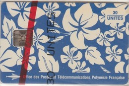 France Polynesia - FP017, Motif Paréo, S. Millecamps 1993 (blue), CN::5 Digits, SC5 SB, 30U, 20.000ex, 10/93, Mint NSB - French Polynesia