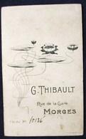 MORGES SUISSE BELLE PHOTO CDV AU DOS ART NOUVEAU PUBLICITE PHOTOGRAPHE G. THIBAULT BIENNE BEBE NU - Photos