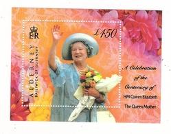 ALDERNEY, BAILIWICK OF GUERNSEY / A CELEBRATION OF THE CENTENARY OF HM QUEEN ELIZABETH, QUEEN MOTHER / Faciale : 1 £ 50 - Alderney