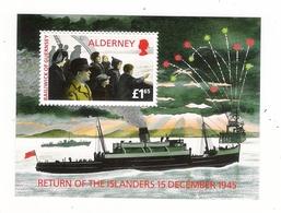 ALDERNEY, BAILIWICK OF GUERNSEY  /  RETURN  OF  THE  ISLANDERS , 15  DECEMBER  1945  /  Faciale : 1 £ 65 - Alderney