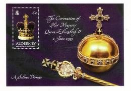 ALDERNEY, BAILIWICK OF GUERNSEY  /  THE CORONATION OF HER MAJESTY QUEEN ELIZABETH II, 2 JUNE 1953  /  Faciale : 2 £ 00 - Alderney