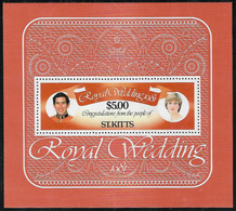 St Kitts SG MS81 1981 Royal Wedding Miniature Sheet Unmounted Mint [38/31653/1D] - St.Kitts And Nevis ( 1983-...)