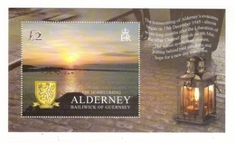 ALDERNEY, BAILIWICK OF GUERNSEY  /  THE HOMECOMING OF ALDERNEY' S EVACUEES, 15 Th DECEMBER 1945  /  Faciale : 2 £ 00 - Alderney