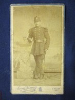 PHOTO CDV BELLEY SOLDAT MILITAIRE PHOTOGRAPHE LOUIS DEMAY CAVALERIE GARNISON - War, Military