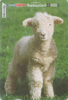 Carte Prépayée Japon - ANIMAL - MOUTON Agneau - SHEEP - Japan Prepaid Rainbow Card - SCHAF - SCHAAP - BE 104 - Télécartes