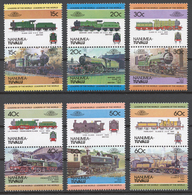 Tuvalu/ Nanumea 1984 Mi# 1-12** LOCOMOTIVES - Tuvalu