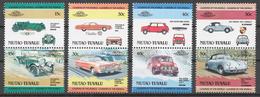 Tuvalu/ Niutao 1984 Mi# 1-8** AUTOMOBILES - Tuvalu