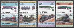 Tuvalu/ Nui 1984 Mi# 1-8** LOCOMOTIVES - Tuvalu