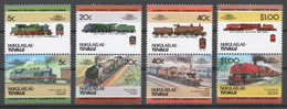 Tuvalu/ Nukulaelae 1984 Mi# 17-24** LOCOMOTIVES - Tuvalu