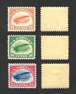 US First Airmails 1918 Curtis Jenny ... Wonderful Set ...  Scott # C1-C3 ... MNH ** - Air Mail