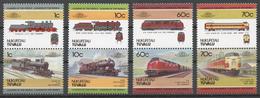 Tuvalu/ Nukufetau 1985 Mi# 31-38** LOCOMOTIVES - Tuvalu