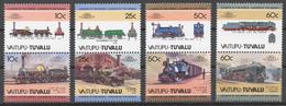Tuvalu/ Vaitupu 1985 Mi# 37-44** LOCOMOTIVES - Tuvalu