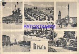 103511 ALBANIA TIRANA MULTI VIEW CIRCULATED TO ITALY POSTAL POSTCARD - Albanien