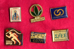 #31986 Lot Of 6 Old Pins / Badges [4] - Jewels & Clocks
