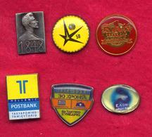 #31987 Lot Of 6 Old Pins / Badges [5] - Jewels & Clocks