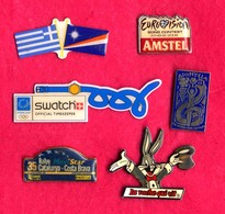 #31996 Lot Of 6 Old Pins / Badges [7] - Autres