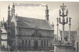 297. SAINT-THEGONNEC . CALVAIRE ET L'OSSUAIRE . CARTE NON ECRITE - Saint-Thégonnec