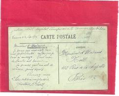 """SAINTE-ANNE-D'AURAY . INTERIEUR DE LA BASILIQUE .LE PIEU NICOLAZIC ..etc ..+ CACHET """"HOPITAL TEMPORAIRE 8 - VANNES. 2 S - Sainte Anne D'Auray"""