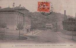 5160A  ST CHAMOND  TIMBRE 1915  ECRITE - Saint Chamond