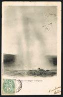 ISLANDE -Un Geyser En éruption  -CPA Voyagée  1906  -recto Verso - Paypal Sans Frais - Islande