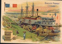 HANOI -CHROMO  Biscuits PERNOT- Les Grands Ports Du Monde - Recto Verso Paypal Sans Frais - Sonstige