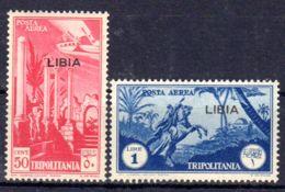 1937; Flugpostausgaben Von Tripolitanien Mit Aufdruck LIBIA, Mi-Nr. 79 + 80, Neu *. Los 50586 - Libya